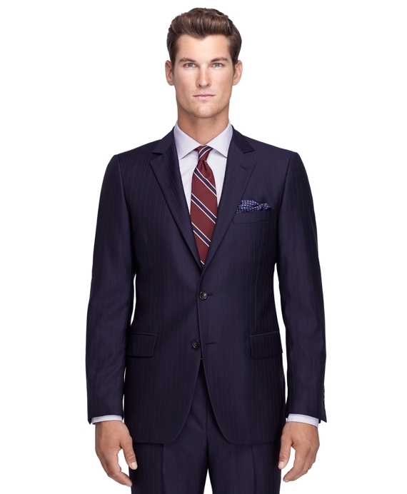 Fitzgerald Fit Shadow Stripe 1818 Suit Navy