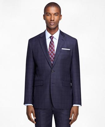 Milano Fit Saxxon Mini Plaid 1818 Suit
