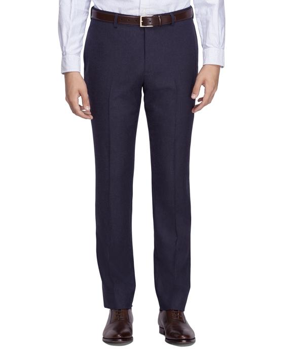 Wool Flannel Suit Trousers Blue