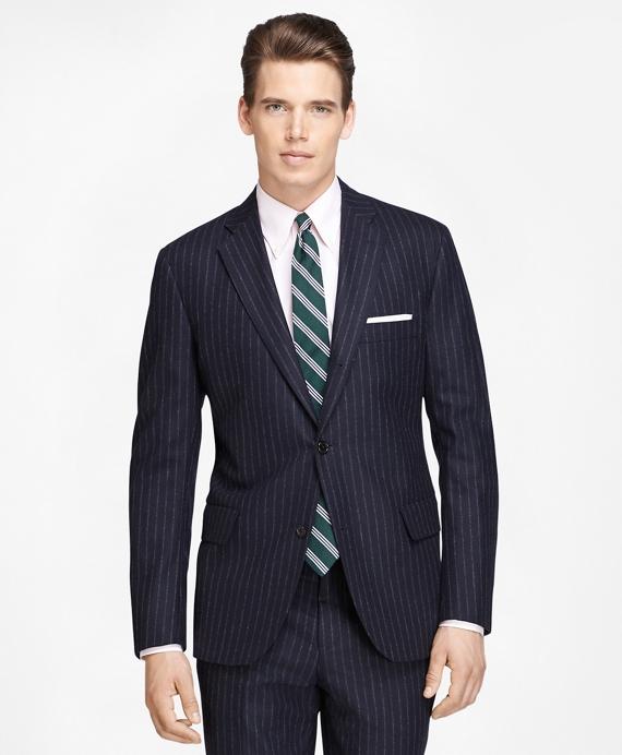 Own Make Chalk Stripe Suit Navy