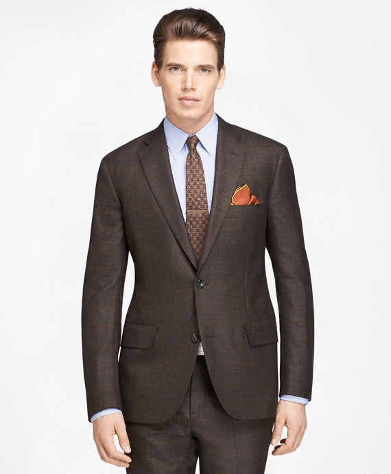 Own Make Plaid Deco Suit Brown