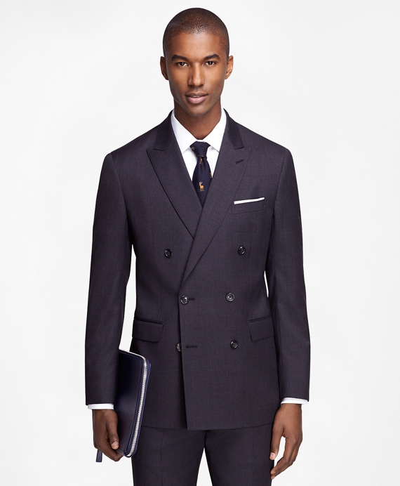 Men's Extra Slim Fit Grey Double-Breasted 1818 Suit | Brooks Brothers