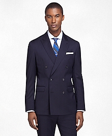 Milano Fit Double-Breasted Stripe 1818 Suit