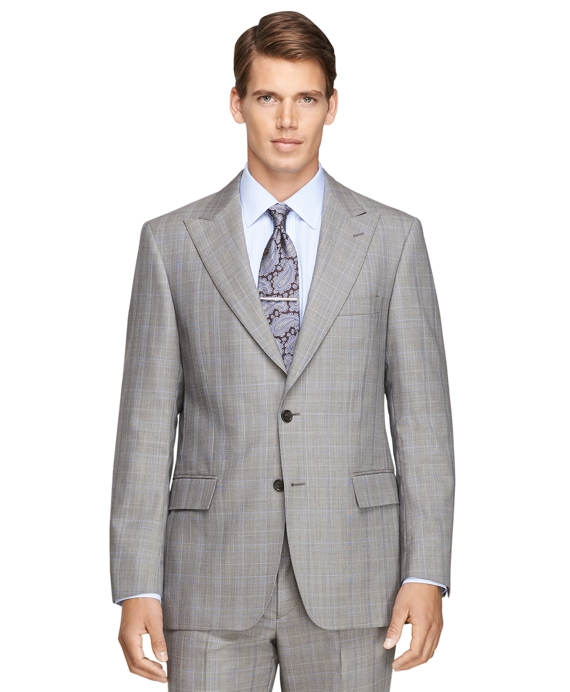 Regent Fit Plaid 1818 Suit Tan