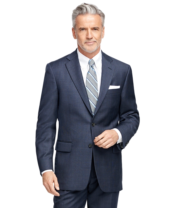 Madison Fit Windowpane 1818 Suit Navy