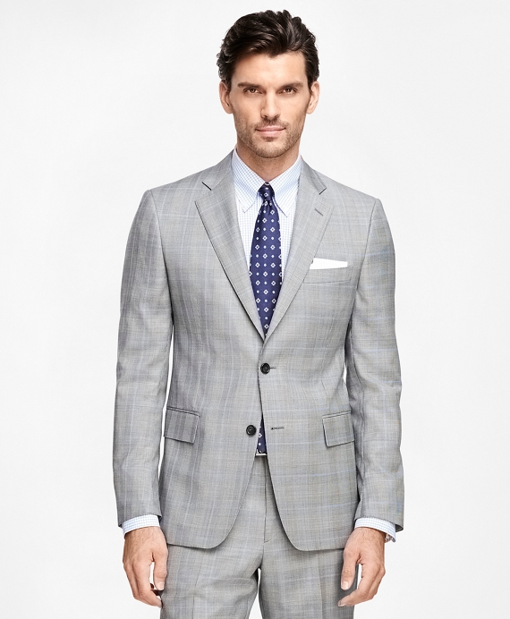 Regent Fit Plaid with Windowpane 1818 Suit Black