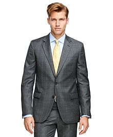 Fitzgerald Fit Saxxon® Wool Plaid 1818 Suit
