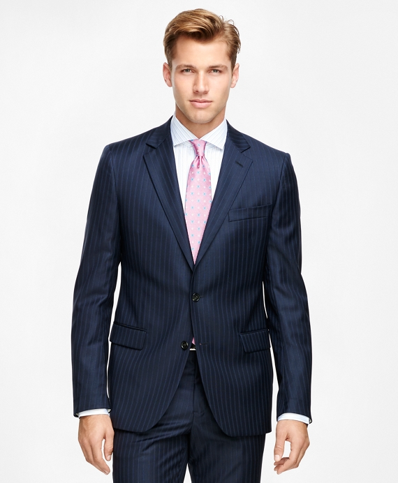 Fitzgerald Fit Saxxon™ Wool Stripe 1818 Suit Navy