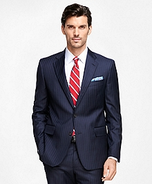 Regent Fit Saxxon Wool Stripe 1818 Suit