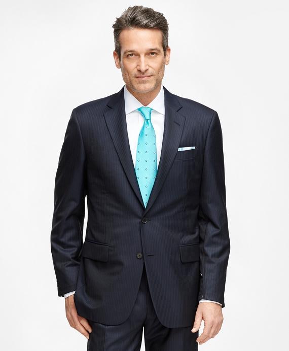 Madison Fit Golden Fleece® Wool Alternating Stripe Suit Navy