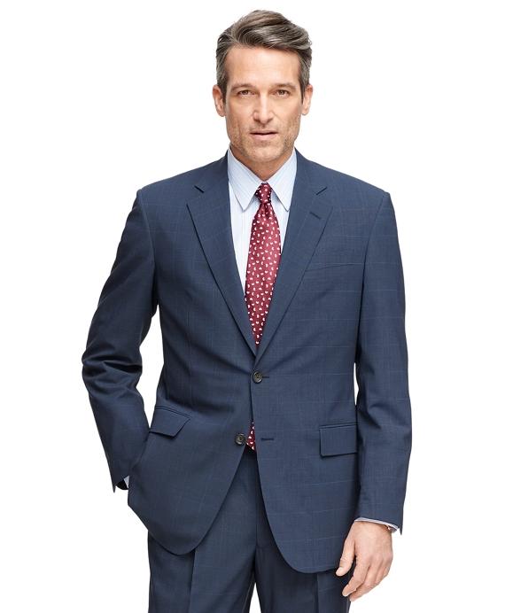 Madison Fit BrooksCool® Plaid Suit Navy