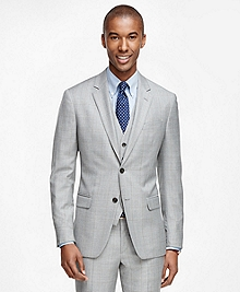 Milano Fit Windowpane Three-Piece 1818 Suit