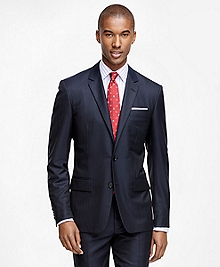 Milano Fit Golden Fleece® Wool Alternating Stripe Suit