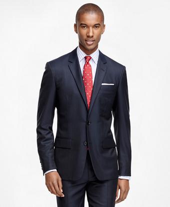 Milano Fit Golden Fleece® Wool Alternating Stripe Suit