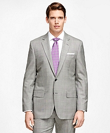 Fitzgerald Fit Golden Fleece® Black and White Plaid Wool Suit