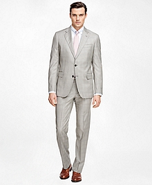 Regent Fit Saxxon Wool Brown Plaid 1818 Suit