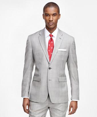Milano Fit Saxxon Wool Brown Plaid 1818 Suit