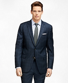 Fitzgerald Fit Saxxon® Wool Blue Plaid 1818 Suit