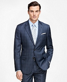 Regent Fit Saxxon Wool Blue Plaid 1818 Suit