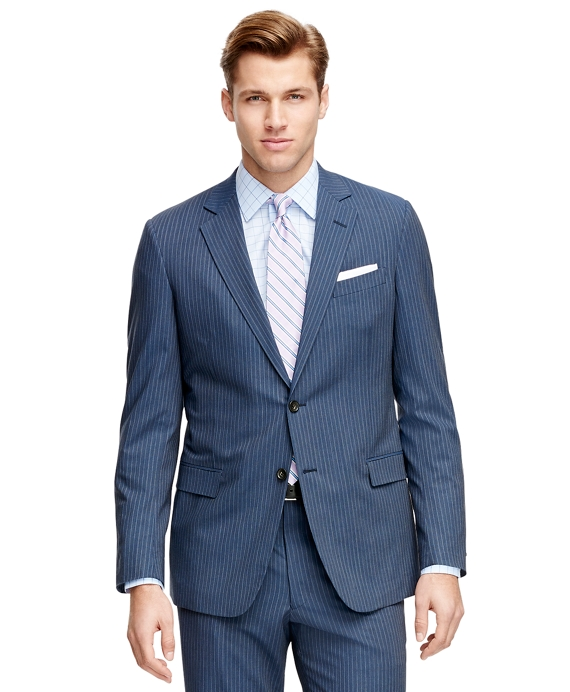 Fitzgerald Fit BrooksCool® Alternating Stripe Suit Blue