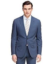 Regent Fit BrooksCool® Alternating Stripe Suit