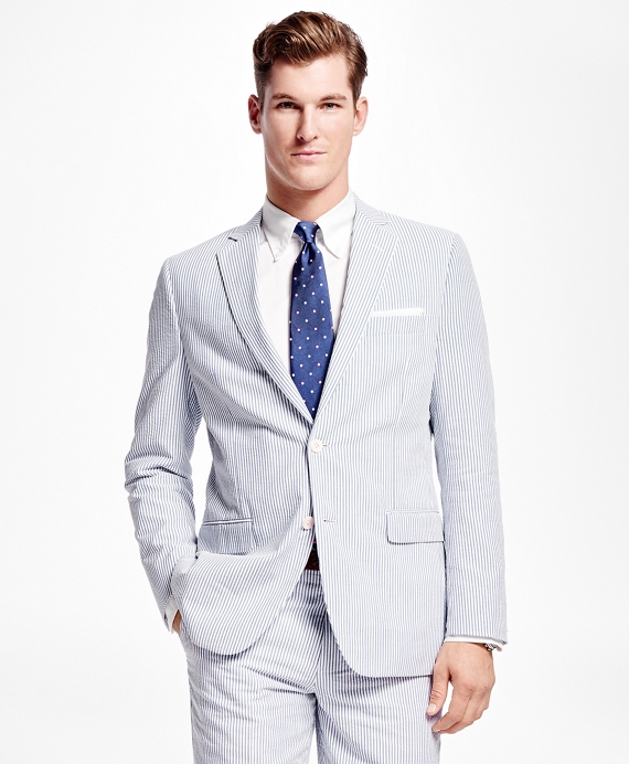 We carry seersucker suits in a variety of styles including two button, three button, three piece suits, fashion suits and zoot suits. There are a variety of color options in men's seersucker suits.