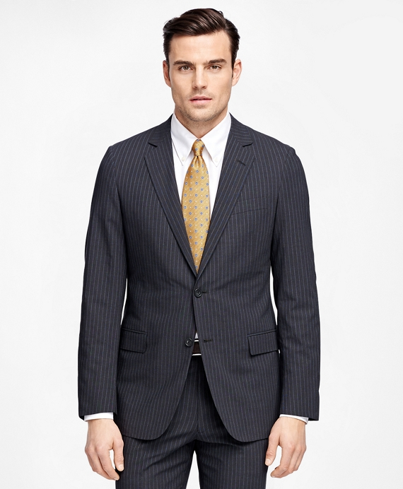 Fitzgerald Fit BrooksCool® Stripe Suit Charcoal