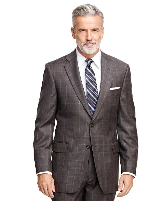 Madison Fit Plaid with Deco 1818 Suit Brown