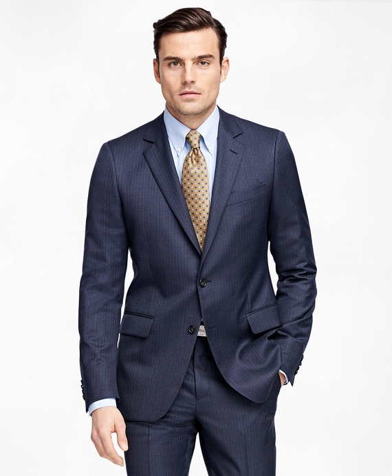 Fitzgerald Fit Tic with Stripe 1818 Suit Blue