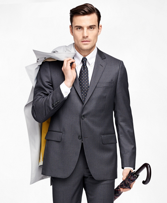 Fitzgerald Fit Alternating Stripe 1818 Suit Grey