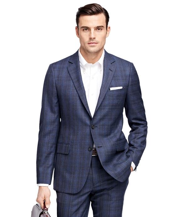 Men's Fitzgerald Fit Blue Plaid 1818 Suit | Brooks Brothers
