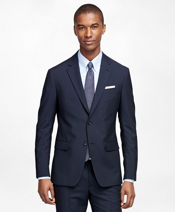 Milano Fit Multistripe 1818 Suit Navy