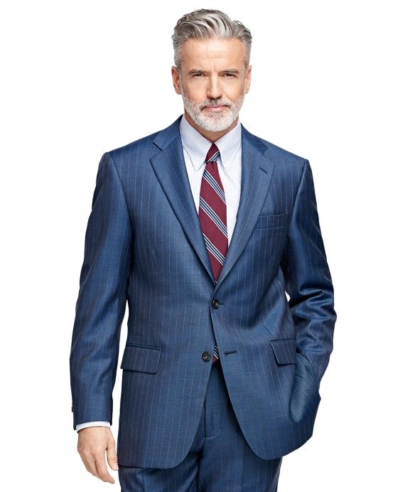 Madison Fit Stripe 1818 Suit Blue