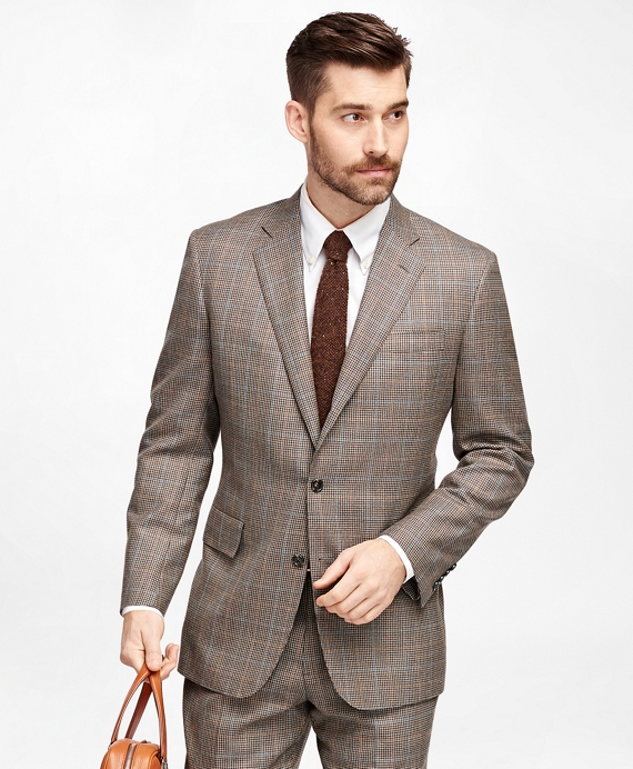 Men's Vintage Style Suits, Classic Suits Own Make Check with Deco Suit $649.00 AT vintagedancer.com