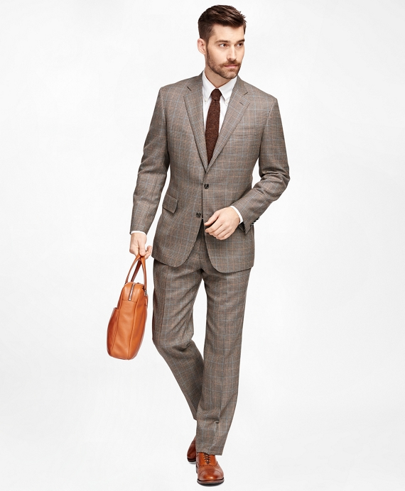 Men's Own Make Brown Checkered Suit | Brooks Brothers