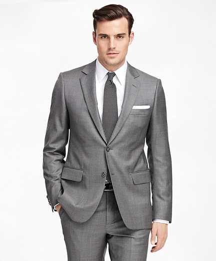 Fitzgerald Fit Saxxon Wool Sharkskin 1818 Suit