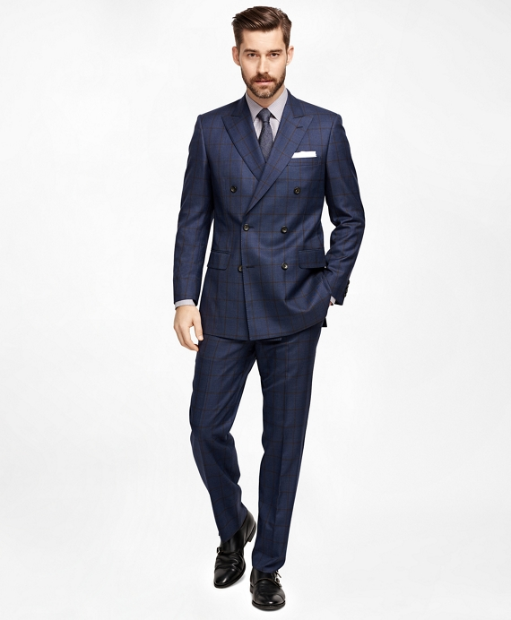 Double Breasted Windowpane Suit - Hardon Clothes