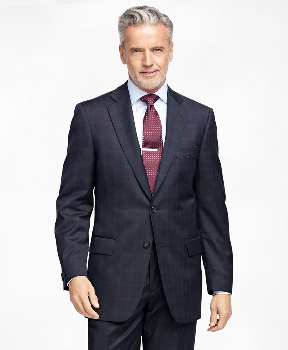 Madison Fit Multipane 1818 Suit Navy