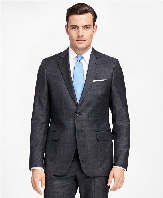 Fitzgerald Fit Plaid With Deco 1818 Suit Charcoal