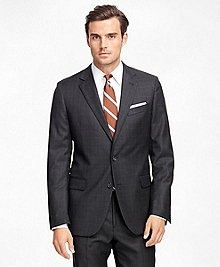 Fitzgerald Fit Saxxon Wool Charcoal Plaid 1818 Suit