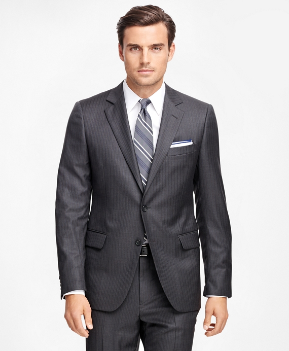Fitzgerald Fit Alternating Stripe 1818 Suit Charcoal