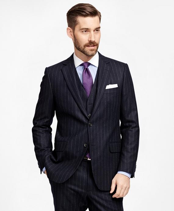 Fitzgerald Fit Three-Piece Chalk Stripe 1818 Suit Navy