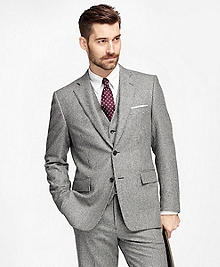 Regent Fit Three-Piece Flannel Plaid 1818 Suit