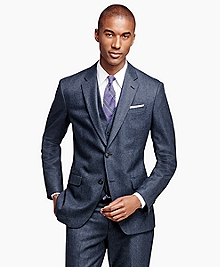 Milano Fit Three-Piece Check 1818 Suit