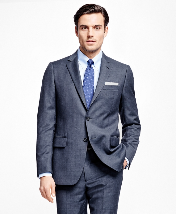 Fitzgerald Fit Plaid 1818 Suit Blue
