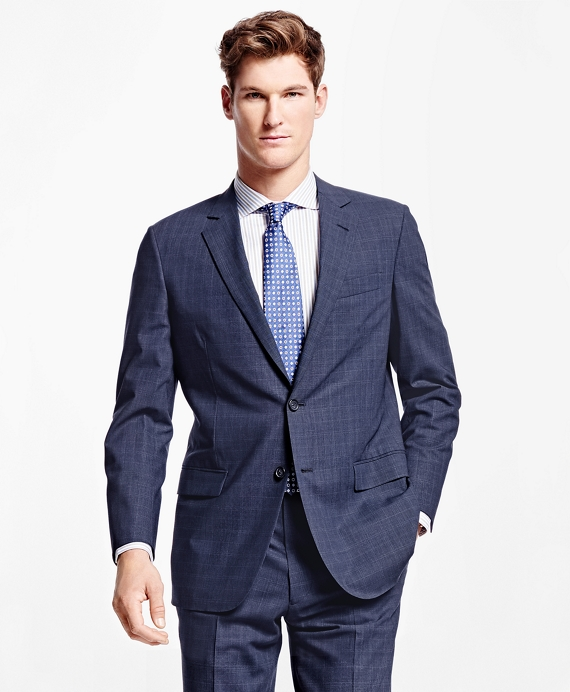 Fitzgerald Fit BrooksCool® Plaid Suit Blue