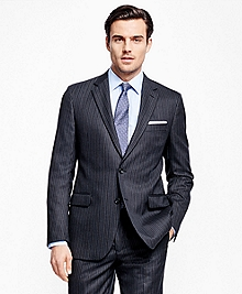 Fitzgerald Fit Saxxon Wool Alternating Stripe 1818 Suit