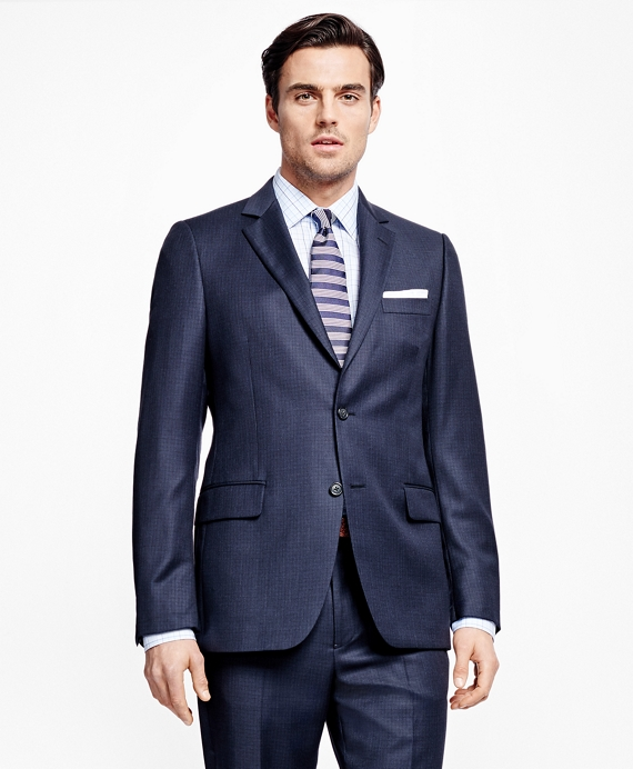 Fitzgerald Fit Tic with Tattersall 1818 Suit Dark Blue
