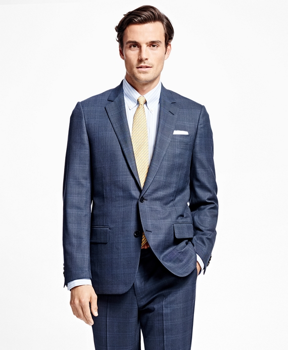 Fitzgerald Fit Golden Fleece® Plaid Suit Blue