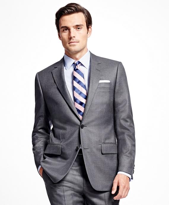 Fitzgerald Fit Golden Fleece® Bead Stripe Suit Grey